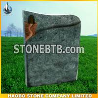 Wisconsin white granite headstone German style