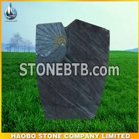 new granite headstone,German style