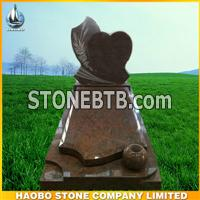 new red granite monument