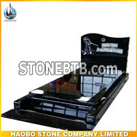 Polished Black Granite Monument