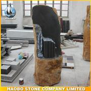 Hot Sale In Swizerland Natural Stone Tombstone With Flower