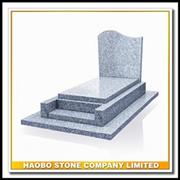 Cheap Grey Granite French Style Funeral Tombstone