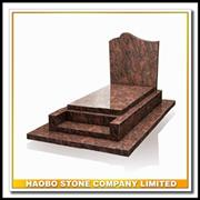 Hot Sale Red Granite Funeral Monument For French Style