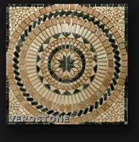 Tumbled Travertine-Marble Mosaic Medallion
