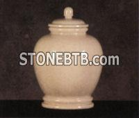 Onyx and Marble Cremation Urns    Classic White