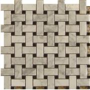 Carrara White Basket Weave Mosaic