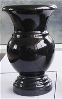 Shanxi Black Jardiniere and Vase, Black Granite, Jardiniere, Vase 4