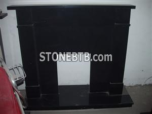 Black Granite Fireplace,Fireplace
