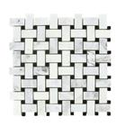 Carrara basketweave with black dot