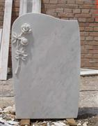 Carving Flowers HeadStone, Gravestone