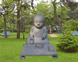 Stone Young Monk Sculpture