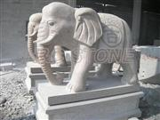 Granite animal carving