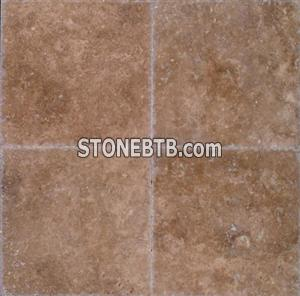 Noce 24x24 Brushed and Chiseled Travertine Tile