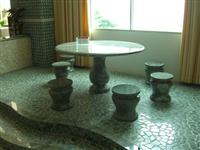 Garden Furniture; Stone Table