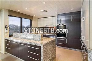 Tiger skin white granite counter top