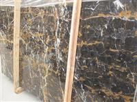 Afghan Portoro black and gold marble