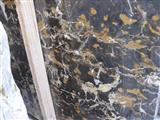 Polished Nero Portoro marble