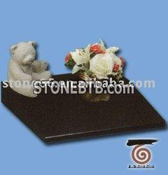 Black Granite Pet Tombstone