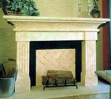 Classic Travertine Fireplace