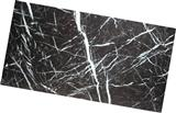 black marble with white vein