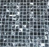 black white marble mosaic