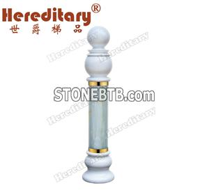 Natural Jade Stone Newel Post (SJ-921)