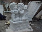 Stone Sculpture Sleepy Angels
