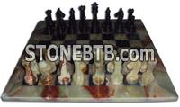 Chess Set Green and Black