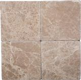 Emperador Light 12x12 Tumbled Marble Tile