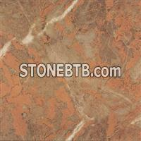 Sunset Glow Red Marble