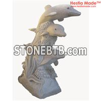 Granite Animal Carvings Fish Sculpture