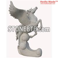 Granite Animal Carvings Flying Horse Sculpture