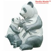 Granite Animal Sculpture Panda Carving