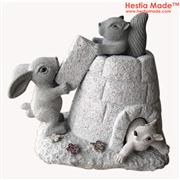 Granite Animal Carvings Squirrel Sculpture