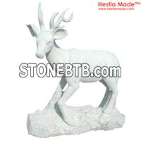 Marble Animal Carvings Goat Sculpture