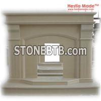 Beige Marble Carved Fireplaces - Hestia Made