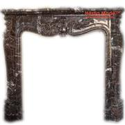 Dark Emperador Marble Fireplaces - HestiaMade