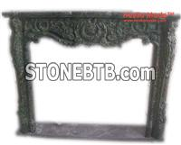 Green Marble Designed Fireplaces Export - Hestia Made