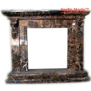 Dark Emperador Marble Fireplaces - Hestia Made