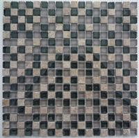 Crystal Mosaic, Glass moaic, Crystal Mix with stone mosaic