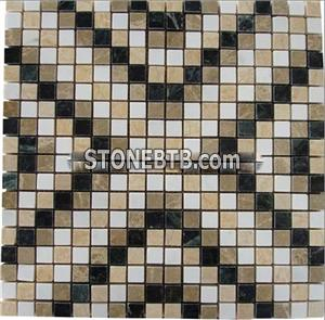 Mix Color China Marble Mosaic Tiles