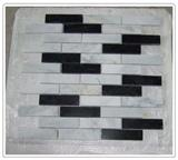 White & Black China Marble Mosaic Tiles
