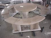 No.FU029, HY075 Usual Round table with curved benches