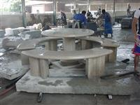 Granite Table with Benches