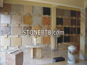 Marble, onyx and granite tiles