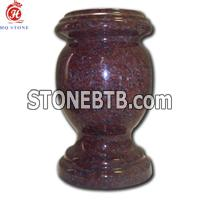 Red granite vases, urn