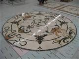 Flower Marble Waterjet Medallion