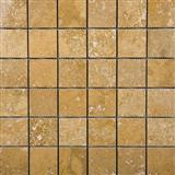 Golden Sienna Travertine Mosaic