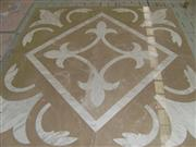 Carraba white mosaic stone medallion