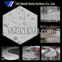 pure acrylic solid surface slab for kitchen counter top
